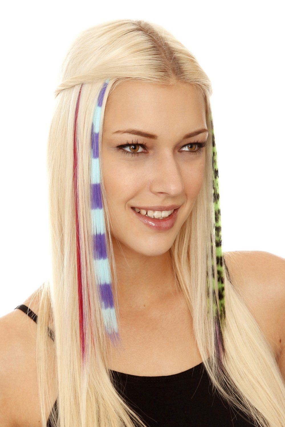 Amazon Color Fiend Clip In Synthetic Hair Extensions 6 Pack