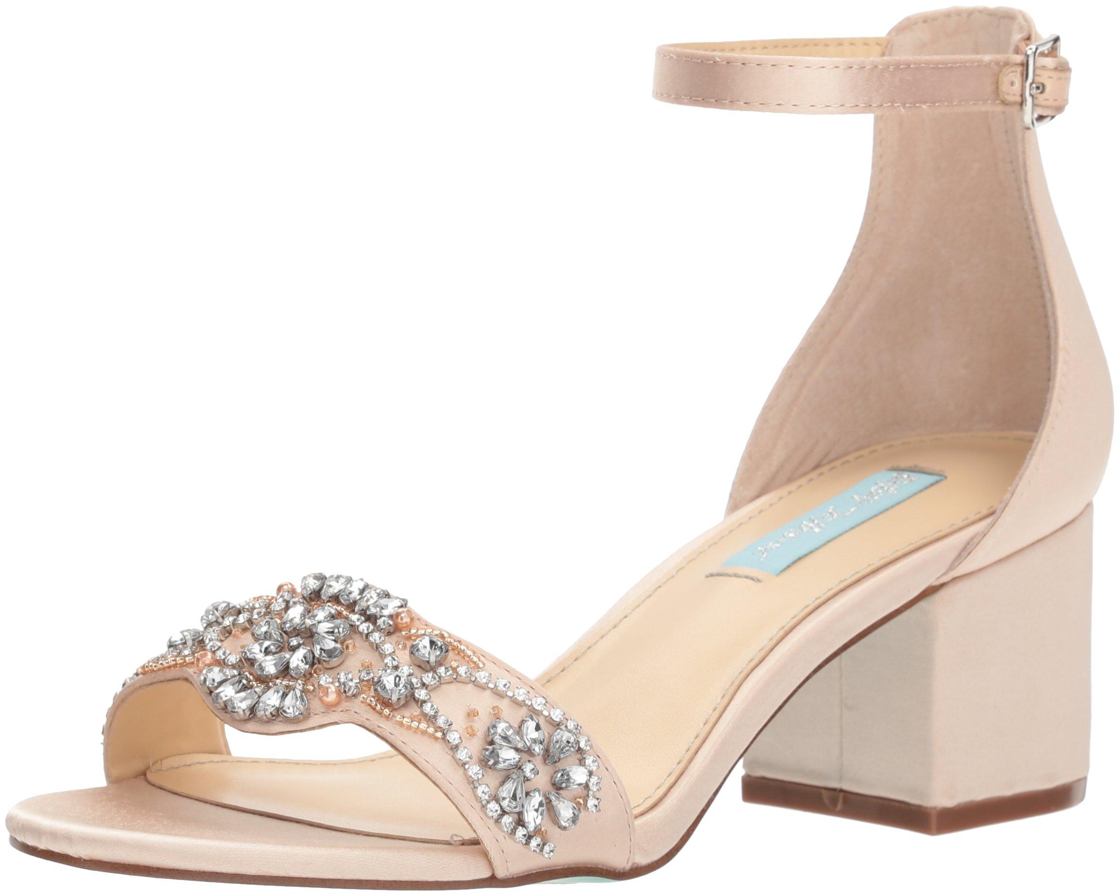 Betsey Johnson Women's SB-Mel Heeled Sandal, Champagne, 7.5 M US
