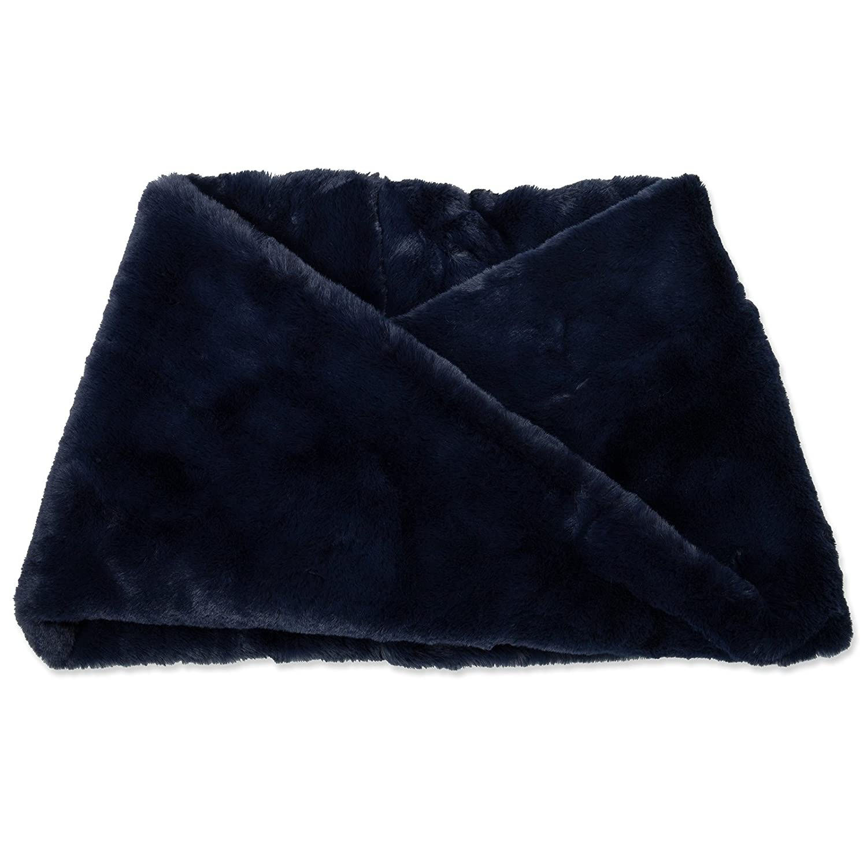 CASPAR SC480 Bufanda Infinita de Invierno para Mujer - Piel Sintética, Color:azul oscuro, Tamaño:Talla Única: Amazon.es: Ropa y accesorios