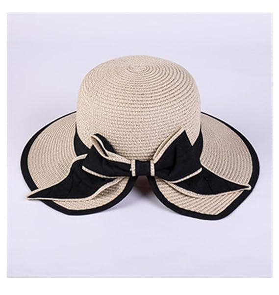 7f7ee04b112 Paddy Meredith Women s Sun Hat Big Bow Wide Brim Floppy Summer Hats Women  Beach Panama Straw