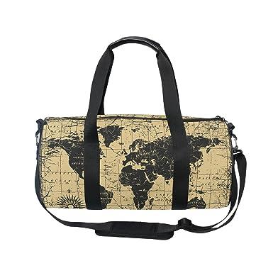 Amazon alaza classical old world map sports gym duffel bag alaza classical old world map sports gym duffel bag travel luggage handbag for men women gumiabroncs Images