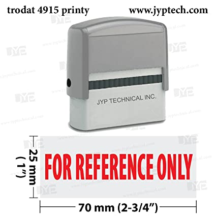 Extra Large Trodat 4915 Self Inking Rubber Stamp W For Reference Only