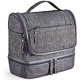 Egab Toiletry Organizer Bag Hanging Travel Toiletry Organizer Kit with Hook and Handle Waterproof Cosmetic Bag DOP Kit for Men or Women (Grey)