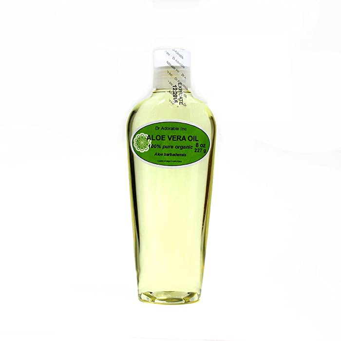 Aloe Vera Oil Pure Organic Cold Pressed by Dr.Adorable 8 Oz