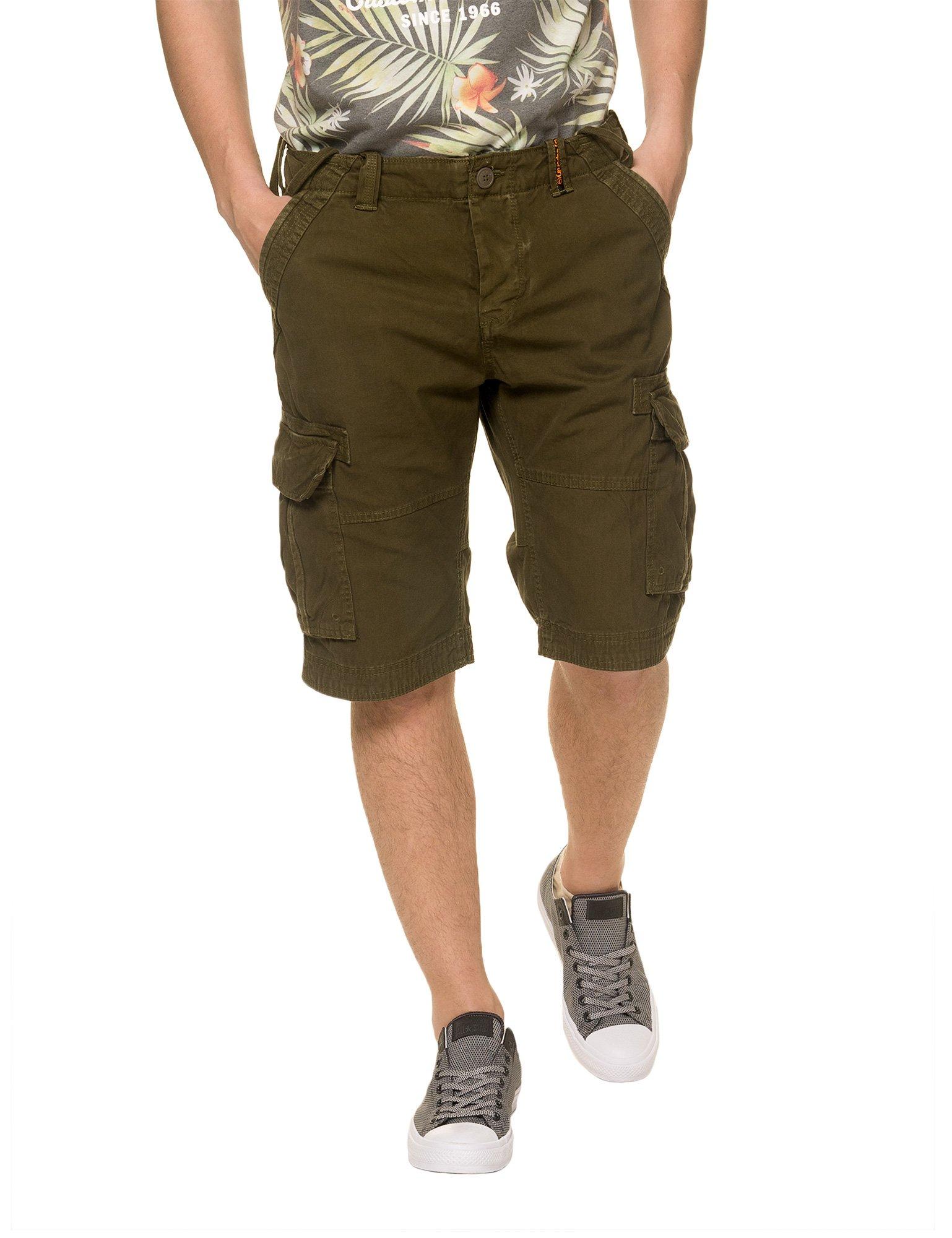 Superdry Men's Core Men's Khaki Cargo Bermuda Shorts in Size L Green