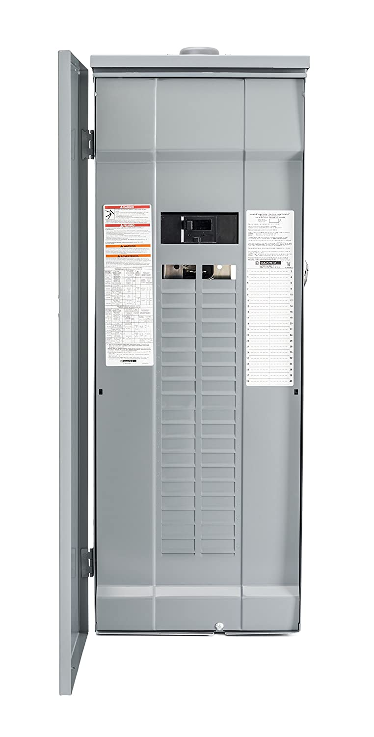 200 Amp Square D Homeline Panel Image Library Hom2200 Circuit Breaker By Schneider Electric Hom4080m200prb 40 Space 80 Outdoor