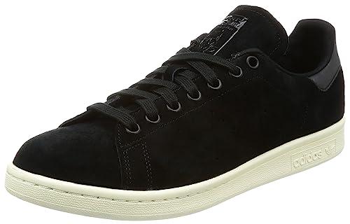 adidas Men's Stan Smith Running Shoes, Black (Core Black), 3.5 UK