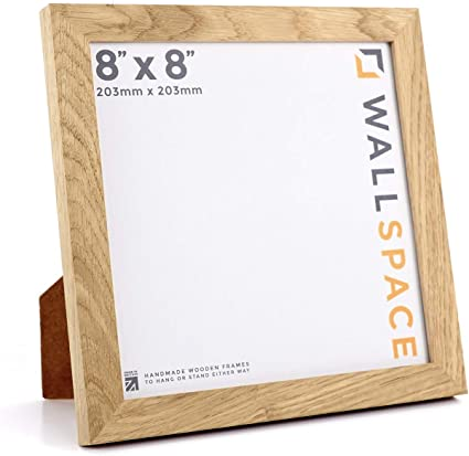 Wall Space Square 8x8 Photo Frame Real Solid Oak Picture Frames All Our Oak 8x8 Square Picture Frames Are Handmade With Love In Our Uk Factory Amazon Co Uk Kitchen