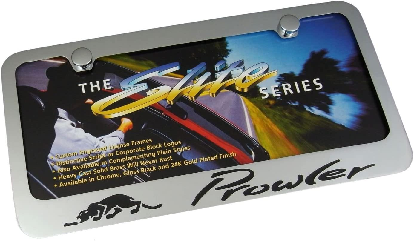Elite Automotive Products Inc.Chrome License Plate Frame for Plymouth Prowler
