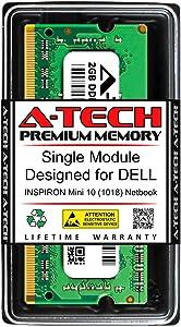 A-Tech 2GB RAM for DELL INSPIRON Mini 10 (1018) Netbook | DDR3 1333MHz SODIMM PC3-10600 204-Pin Non-ECC Memory Upgrade Module