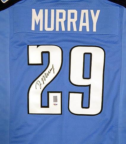 Amazon.com: Titans DeMarco Murray Autographed Blue Jersey PSA/DNA ...