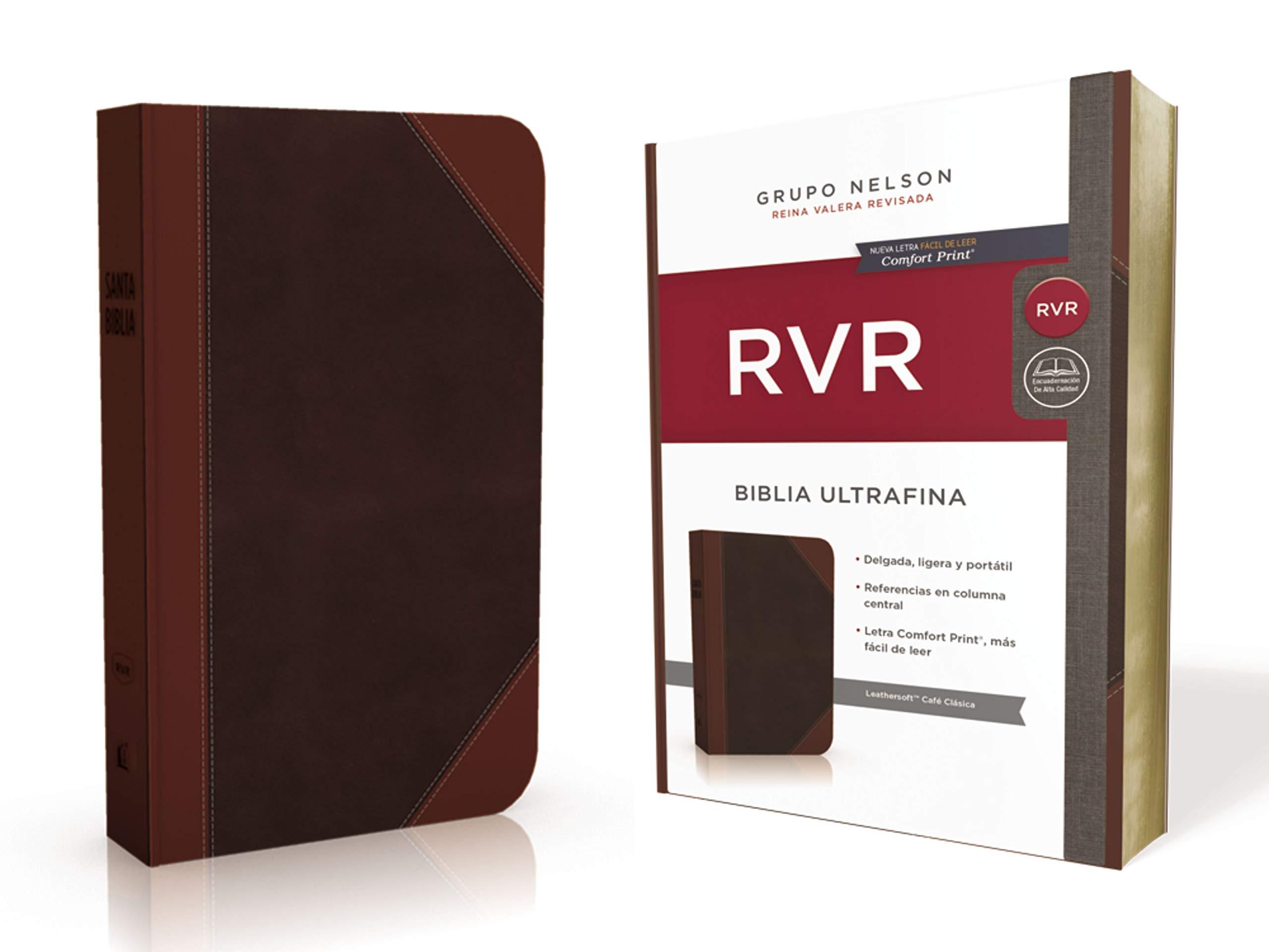 Santa Biblia Reina Valera Revisada (RVR) Ultrafina, Café Clásica (Spanish Edition): Reina Valera Revisada: 9781400210848: Amazon.com: Books
