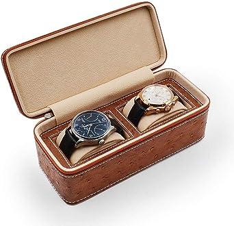 Caja De Relojes, Cuero De Imitación Estuche para Relojes De La Caja De Exhibición, Forro De Terciopelo, Reloj Caja De Almacenamiento (Color : A): Amazon.es: Relojes