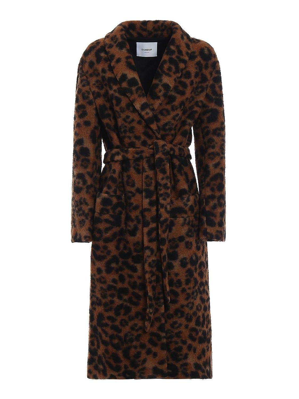 Dondup Women's DJ183WF0156XXXMD728 Brown Wool Coat