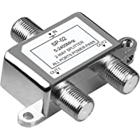 NEWCARE Digital 2-Way Coaxial Cable Splitter 5-2400MHz, RG6 Compatible, Work with Satellite/Cable TV and Internet, CATV…