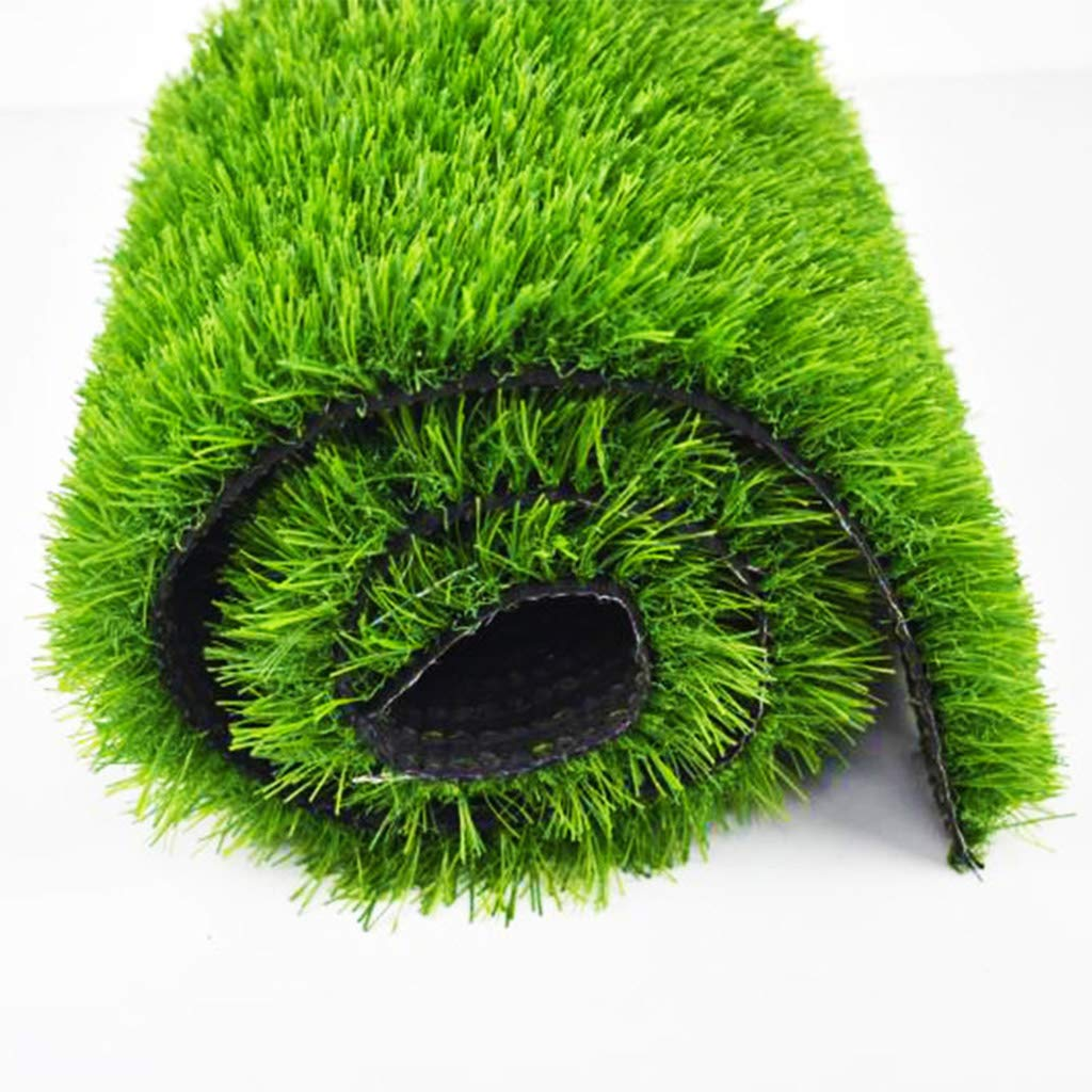 緑の人工芝、幼稚園、ジム、パティオ、ゴルフ、結婚式の使用に最適な30mmの山の高さのナチュラル&リアルなガーデン偽の芝生、あなたのサイズを選んだ B07SCTKCD1  2x5m