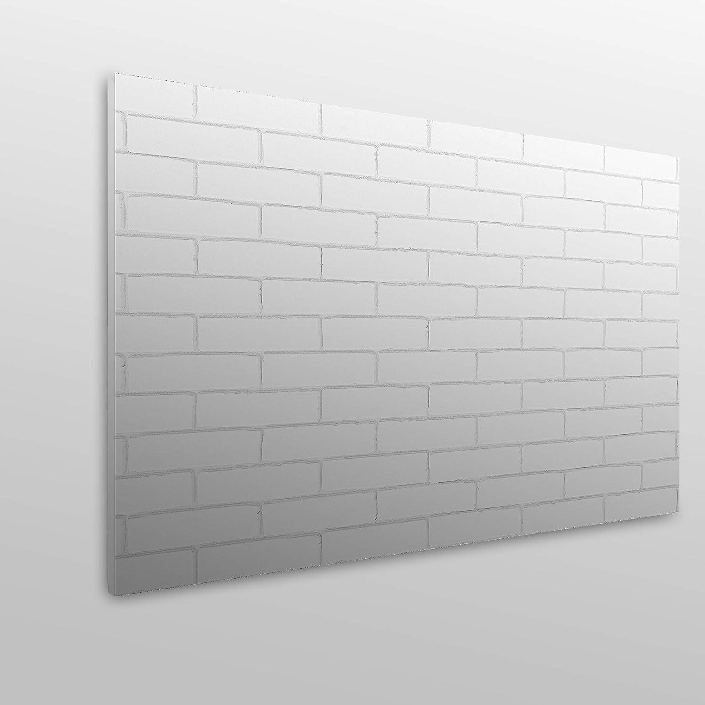 Varie Misure Colore: Bianco Economica Testiera per Letto in PVC MEGADECOR Texture Mattoni Decorativa