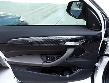 Tiras de decoración para puerta interior de ABS de estilo de coche, accesorios de montaje, pegatinas para X1 F48 2016 2017 2018: Amazon.es: Coche y moto