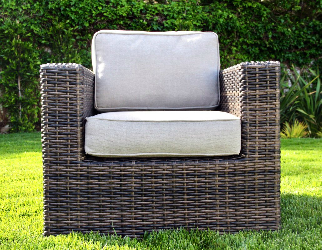 Living Source International Patio Sofa Couch Garden, Backyard, Porch or Pool All-Weather Wicker with Thick Cushions by Living Source International (Image #3)