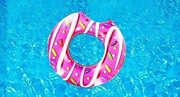 Donut Hinchable Flotador - ¡Gran Accesorio Divertido Para La Piscina, La Playa O Una