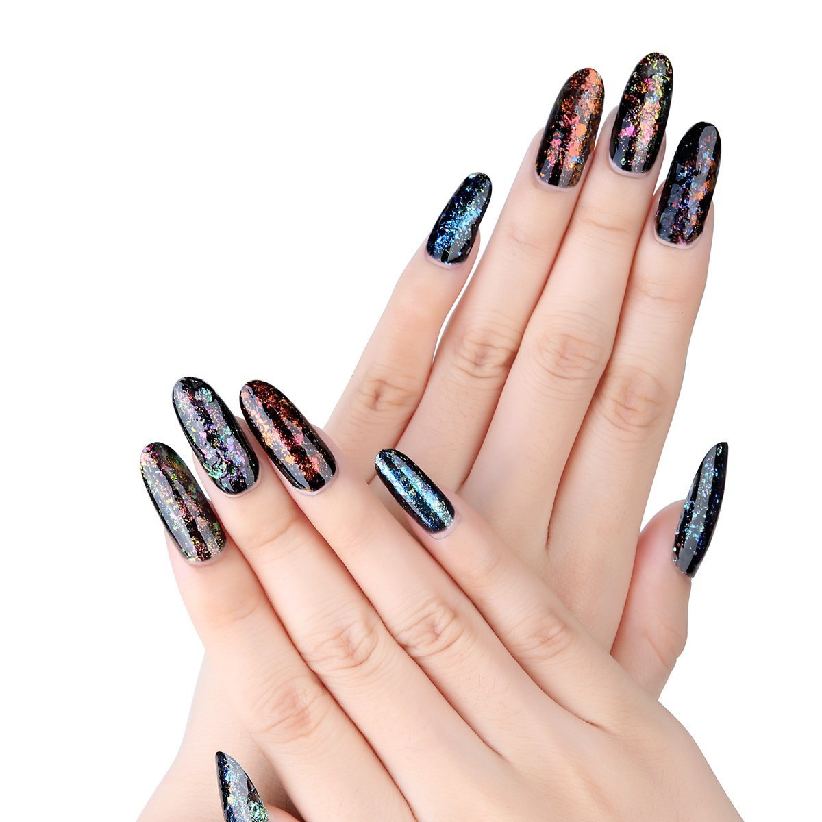 Amazon.com : Makartt Oval Nails Tips Perfect Length Clear Full Cover ...