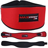 Max Strength Weight Lifting Belt, Red