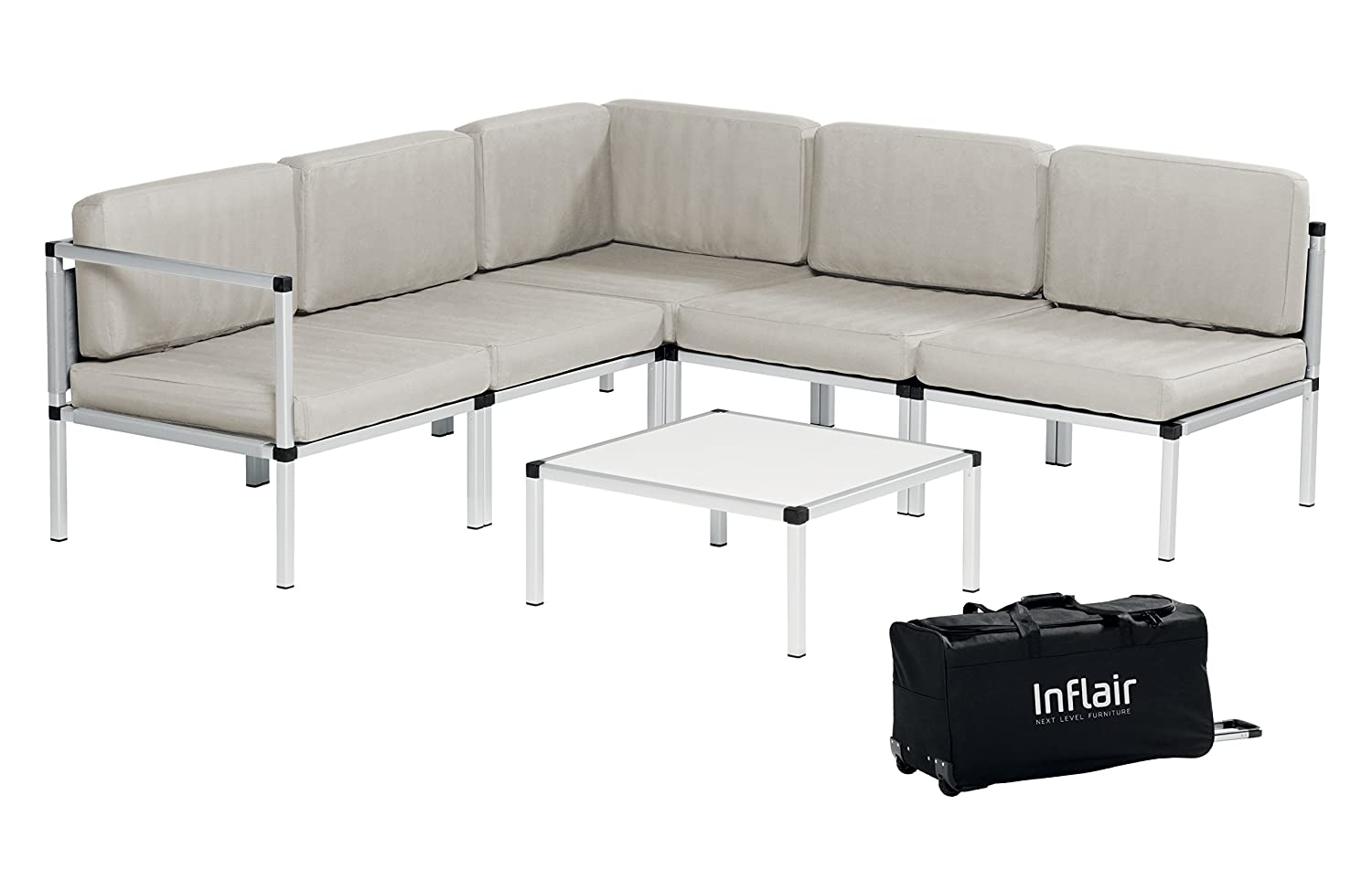 Inflair Lounge Set Superior Lounge Gruppe Sofa-Set Gartenmöbel ...
