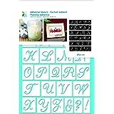 Momenta 25234 Script Alphabet Adhesive Stencil
