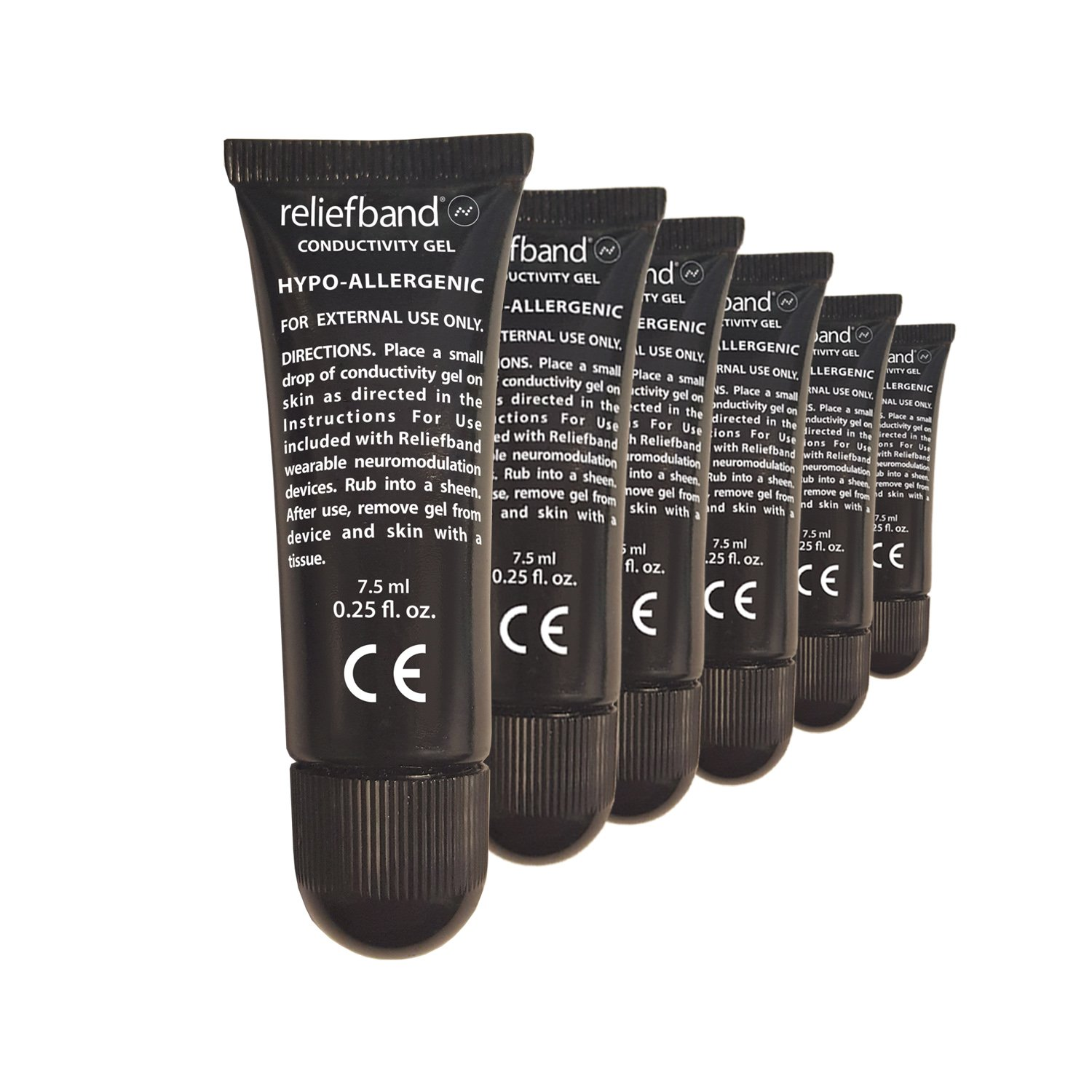 Reliefband 6 Pack Conductivity Gel for Motion Sickness Wristband - Hypo-Allergenic Bundle of 6 Gel Tubes by Reliefband
