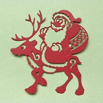 BeipeY - Plantillas de Papel para álbum de Recortes, diseño de Papá Noel: Amazon.es: Hogar
