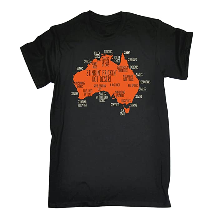 Map Of Australia Joke.123t Men S Australia Explained Map Tshirt Birthday Fashion Clothing