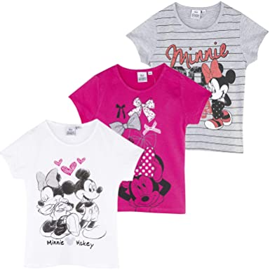 Disney Minnie Mouse Girls Short Sleeve Tshirt T Shirt Licensed Product