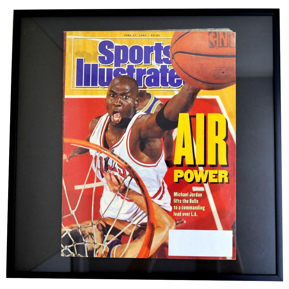 NBA シカゴブルズ ジョーダン&ロッドマン フォトフレーム Photo Frame in Sports Illustrated 1991/6/17 - [並行輸入品]   B015MH9LRS
