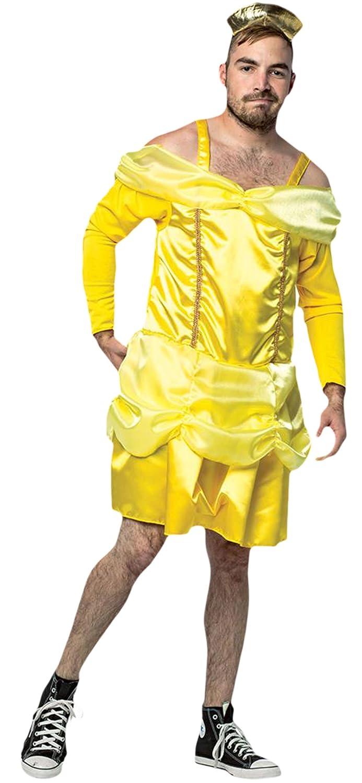 Halloweenia - Herren Beauty is a beast Kostüm Kleid Karneval , Gelb, One Größe