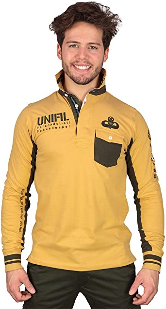 Peacekeeper Polo - Manga Larga - para Hombre Amarillo L ...