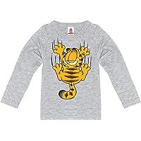 Logoshirt - Comics - Gato - Garfield - Rasguño - Camiseta de Manga Larga para niño - Gris Vigoré - Diseño Original con…