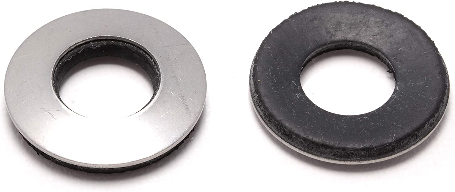 "1/2"" x 1"" OD Stainless EPDM Washers, (50 pc) Neoprene Backed, Choose Size & Qty, by Bolt Dropper"