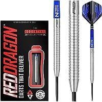 Red Dragon Razor Edge Original: 23g Tungsten Steel Darts Set with Flights, Shafts, Wallet, Checkout Card
