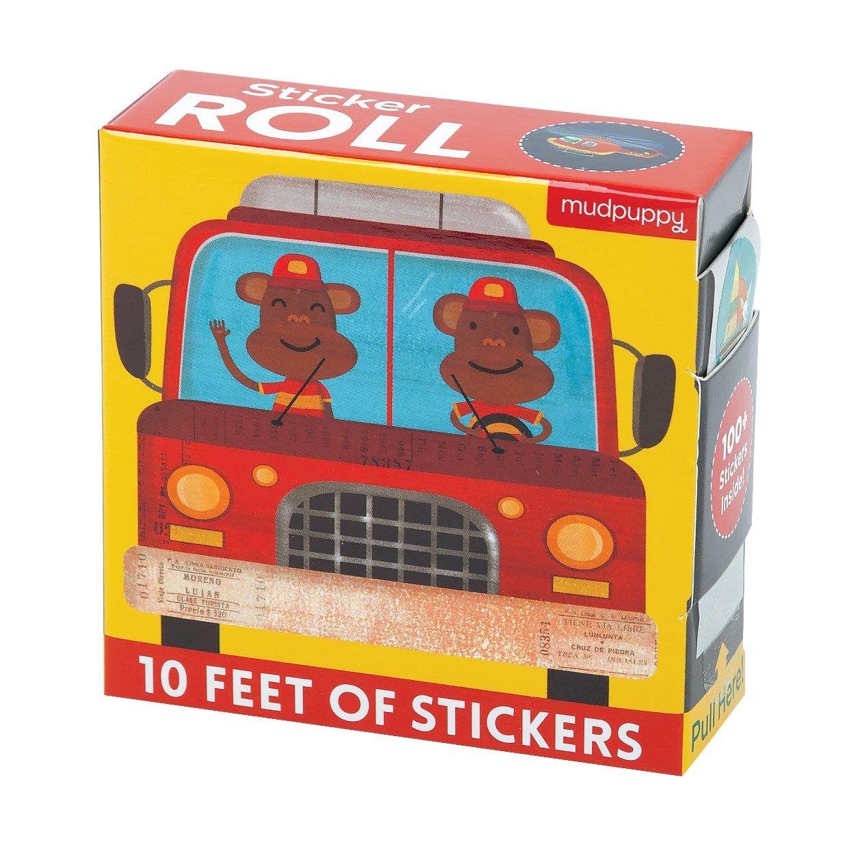 Mudpuppy Things That Go Sticker Roll