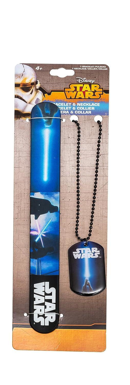 Star Wars 90129 - Set Slap Armband und Halskette mit Anhä nger, 7.5 x 0.5 x 29 cm Joy Toy AG