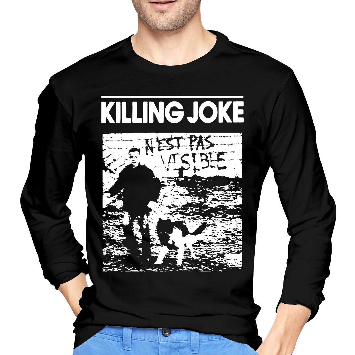 JeremiahR Mens Killing Joke Band Long Sleeve T-Shirt Black