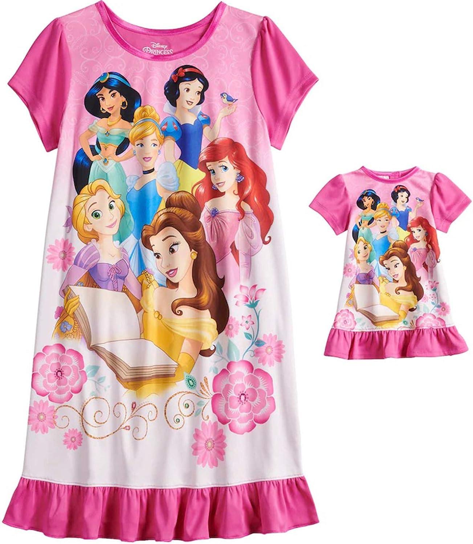 Disney Princess Pink Pyjamas Girls Toddlers new Snow White Cinderella pj/'s