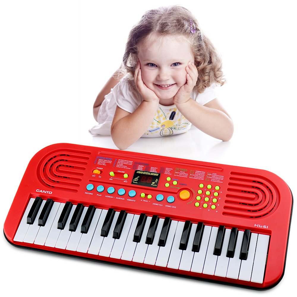 M SANMERSEN 37 Key Portable Keyboard Piano for Kids-0070