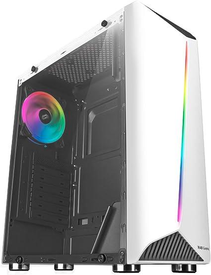 Mars Gaming MCX, caja de PC ATX, cristal templado, ventilador RGB DUAL, blanco: Mars-Gaming: Amazon.es: Informática