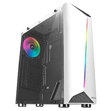Mars Gaming MCX Blanca - Caja PC, Cristal Templado, Ventilador RGB Dual Ring, ATX: Amazon.es: Informática