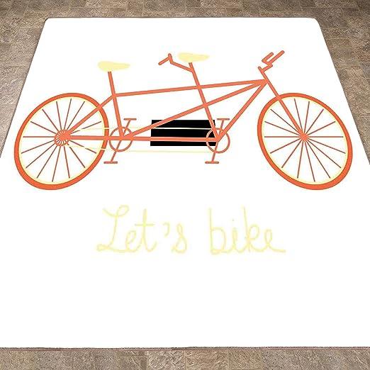 Alfombra para suelo de bicicleta, alfombra de área, para manillar ...