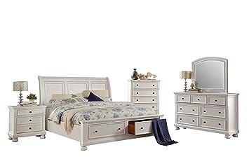 Amazon.com: Liverpool Cottage 5PC Bedroom Set Cal King ...