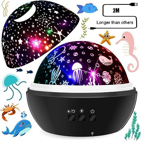 Proyector de luces nocturnas para bebé, varios colores, proyector ...