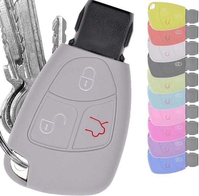 Key Soft Case Cover Estuche Protector Llave del Auto Mercedes Benz W204 W245 S203 A209 Clase C CLK SLK W211 W203 W169 Tecla de Encendido Tecla de Encendido/Color: Púrpura: Amazon.es: Electrónica