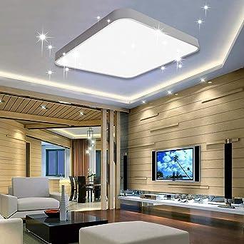 Vingo 50w Led Deckenleuchte Kaltweiss Sternenhimmel Wohnzimmerlampe Kuchenleuchte Deckenbeleuchtung Panel Luster Ultraslim Schlafzimmer Esszimmer